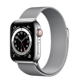 Apple Watch Series 6 (GPS+Cellular) Silver Stainless Steel Case with Milanese Loop