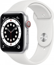 Apple Watch Series 6 (GPS) Silver Aluminum Case with Sport Band