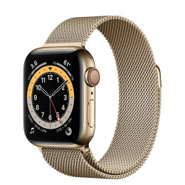 Apple Watch Series 6 (GPS+Cellular) Gold Stainless Steel Case with Milanese Loop
