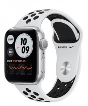 Apple Watch Nike Series 6 (GPS+Cellular) Silver Aluminum Case with Nike Sport Band