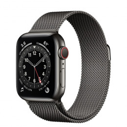 Apple Watch Series 6 (GPS+Cellular) Graphite Stainless Steel Case with Milanese Loop