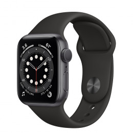 Apple Watch Series 6 (GPS+Cellular) Space Gray Aluminum Case with Sport Band